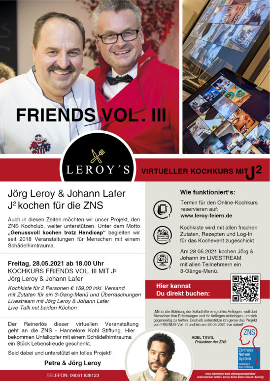 FRIENDS Vol. III virtuelles Benefiz-Kochen
